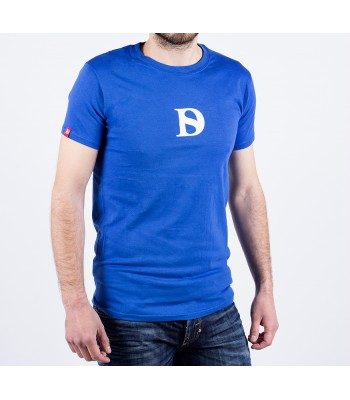 T-shirt / man / D logo (blue)