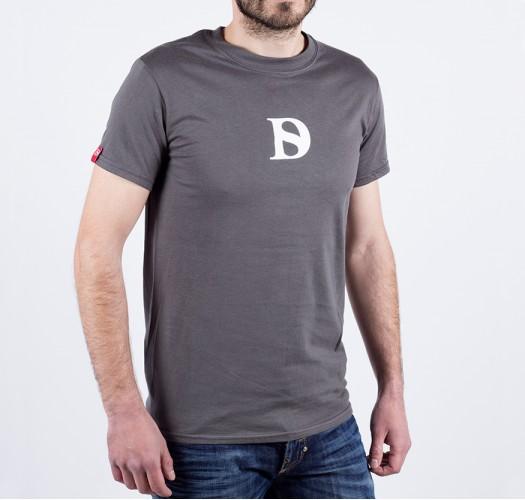 T-shirt / man / D logo (grey)