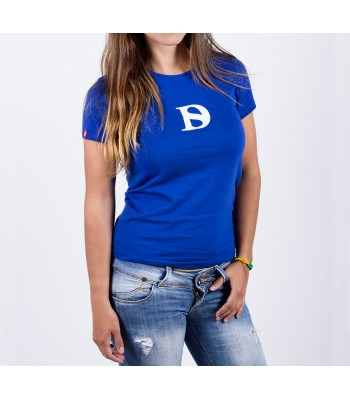 T-shirt / woman / D logo (blue)