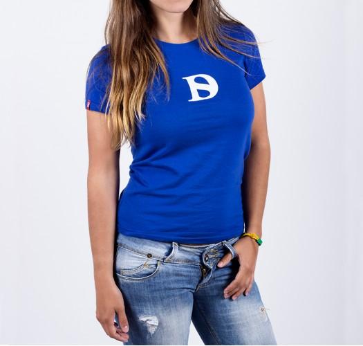 T-shirt / woman / D logo (blue)