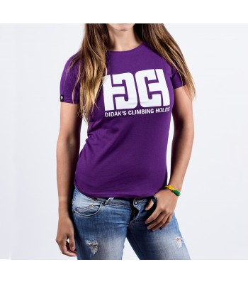 T-shirt / woman / DHC logo (purple)