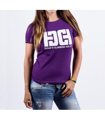 T-shirt / woman / DHC logo (purple)