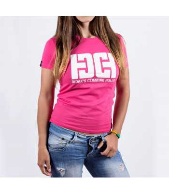 T-shirt / woman / DHC logo (pink)