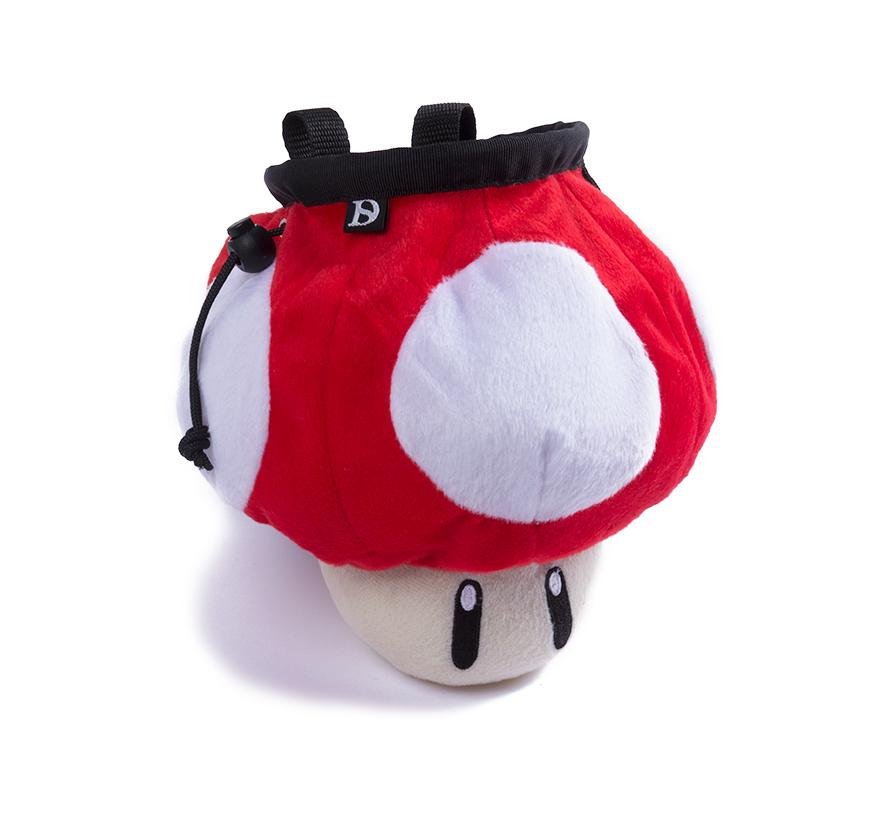 mushroom bag red chalk bag